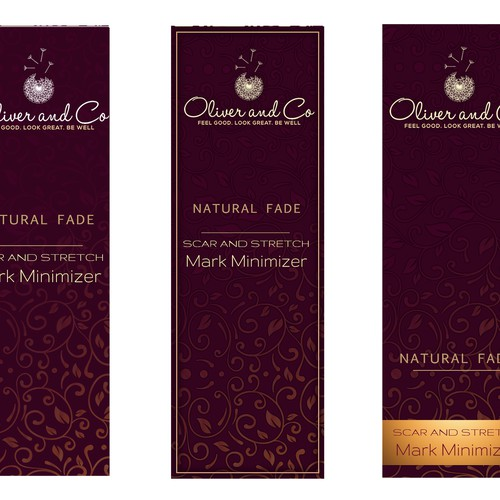 Quality Label and Product Packaging for Luxury Skin Care Startup