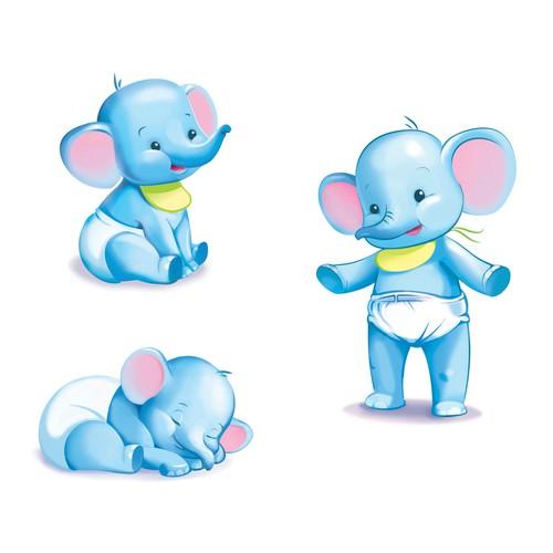 Cute elephant character