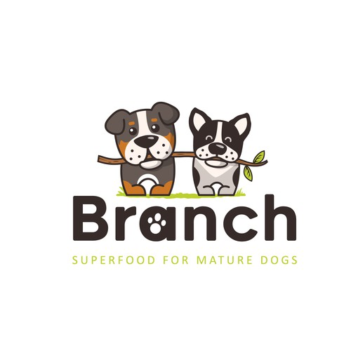 a logo for a dogs food store