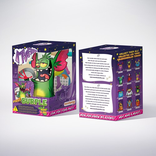 Packaging design for Monster toy.