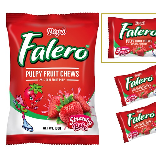 Falero Pulpy Fruit Chews Product Packaging Design 2016