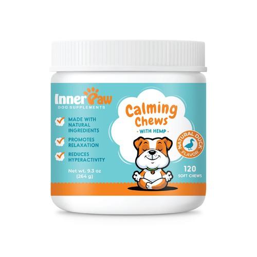 Calming Chews Label