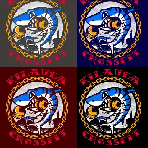 Create a shirt for Kilauea Crossfit On Kauai! Like Jaws! Easy! I allready have idea!