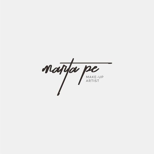 logo concept for make up artist