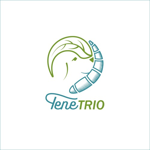 Logo for a dog snack based on edible insects in modern manufactury