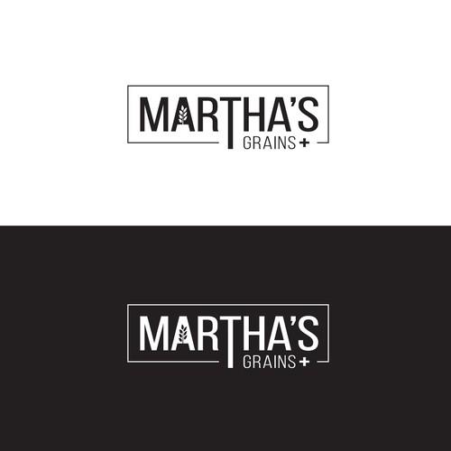 Logo for Martha's Grains +