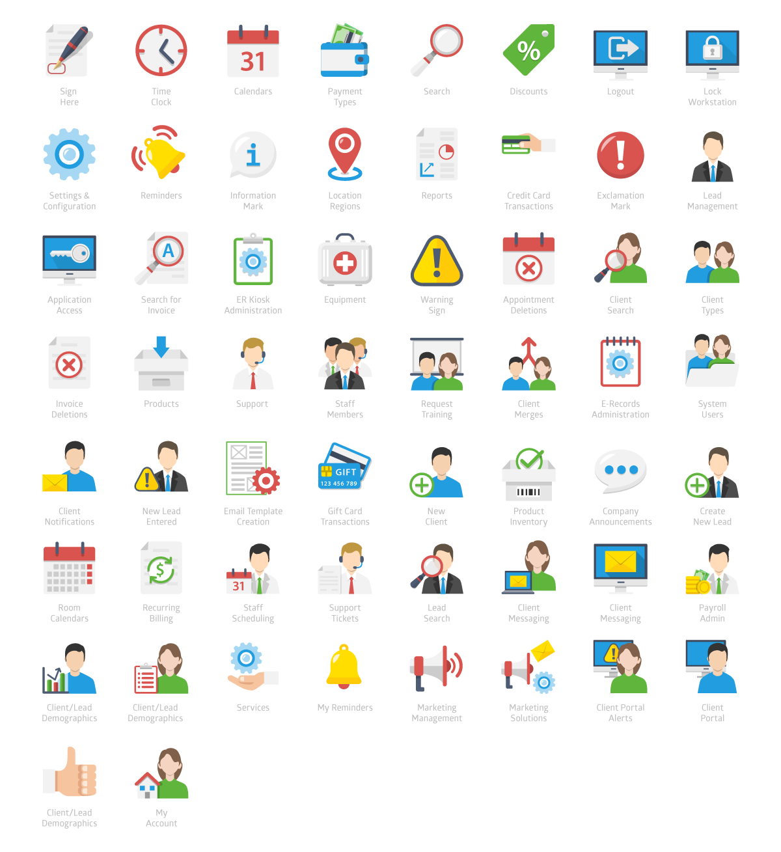 Web Application Icon Designs