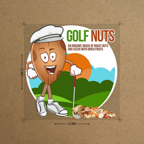 Golf Nuts , golfer for a natural snack