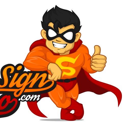 Create a brand (logo+mascot) for TheSignHero.com/.eu