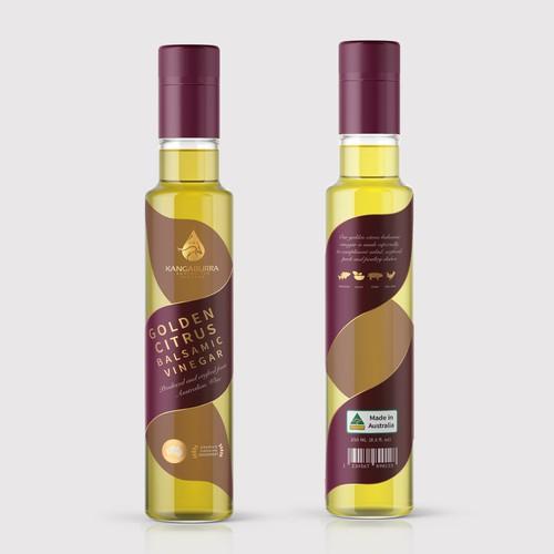 Premium Label Design for Balsamic Vinegar