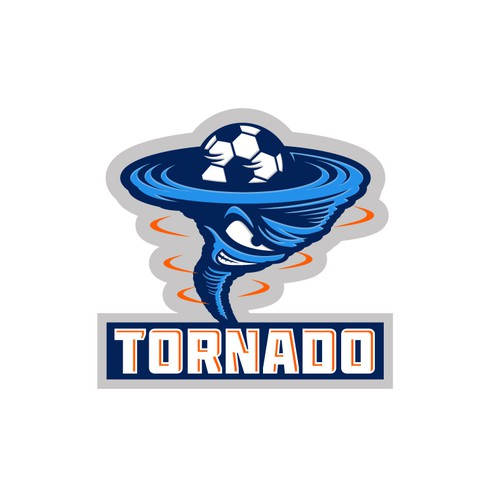 Stunning sports logo for tornado korfball team