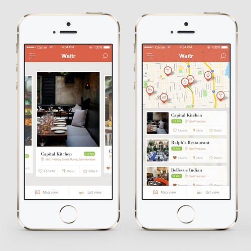 Create a best of breed online ordering app for Waitr, Inc.