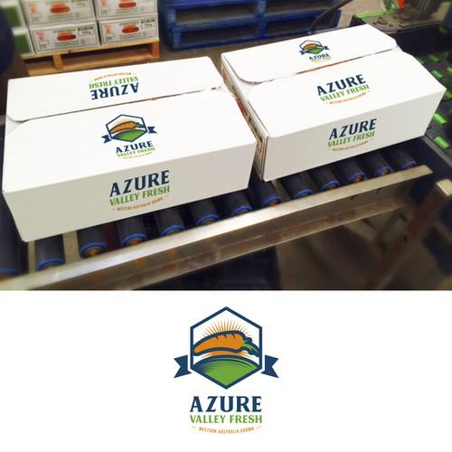 AZURE - Logo Design Packaging Mockup