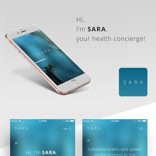 SARA Concierge App Design