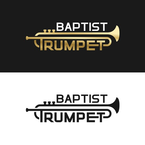The Baptist Trumpet (newspaper) - weekly newspaper logo design - clean look