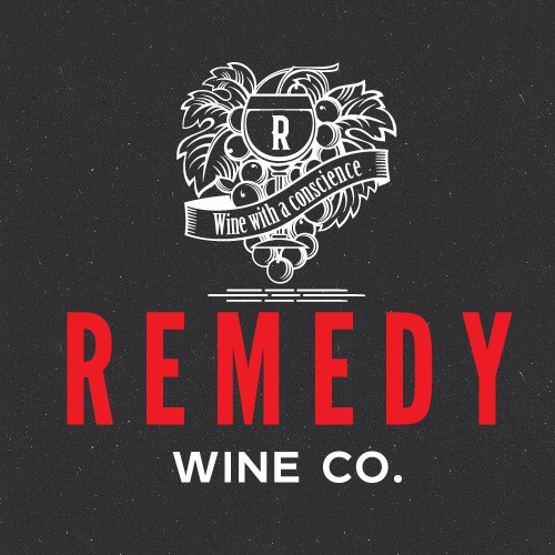 Design a logo for Remedy Wine Co. A startup winery with a unique twist.