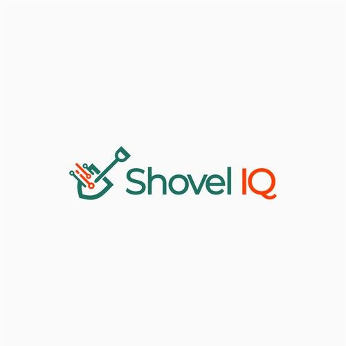 Minimalist logo for shovel IQ