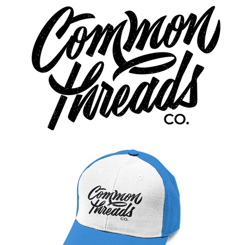 Common threads lettering design