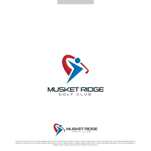 Modern logo concept for Musket Ridge GC