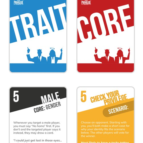 Bold playing card designs