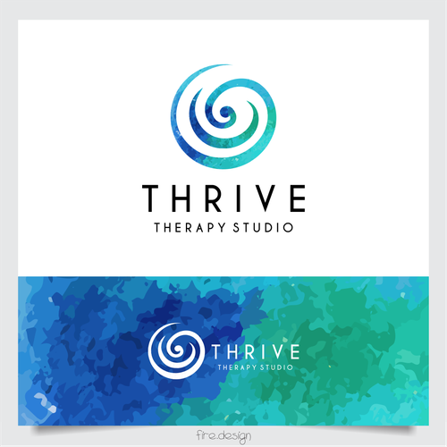 peaceful and calming logo for therapy studio