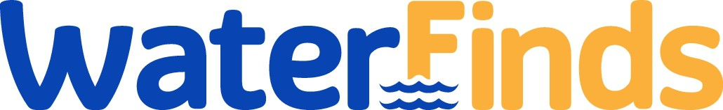 Logo for a store that sells inflatables for water activities.