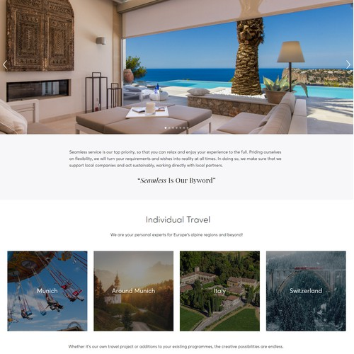 Web Redesign For An European Travel Agency