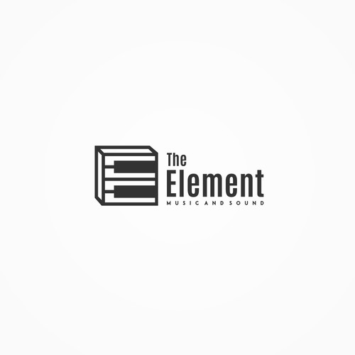 Creative logo concept for The Element Music and Sound