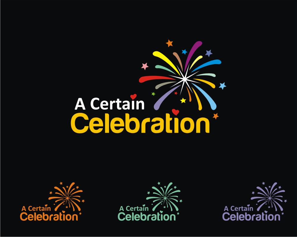 I'm a Marriage Celebrant needing a logo for my business name of 'A Certain Celebration'
