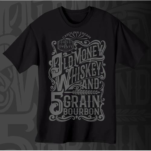 Double Gold Winner - Old Money Whiskey, Carolina Cream & 5-Grain Bourbon- Six & Twenty Distillery.c