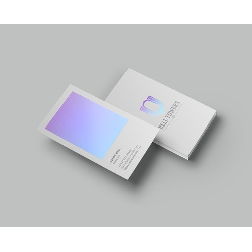 Letterpress Business Cards - Holographic finishing Foil