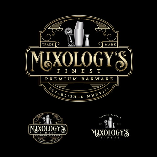 Elegant Logo for Mixology's Finest