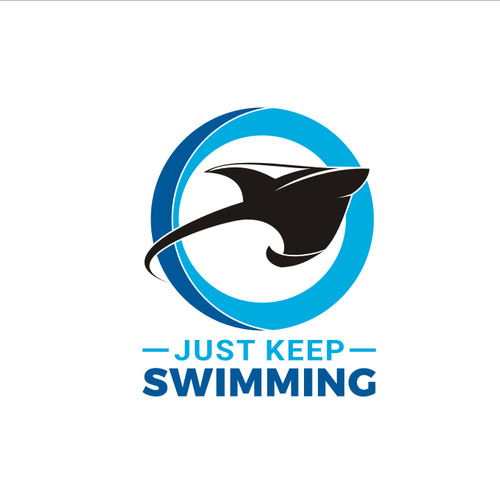 open ocean swimming logo