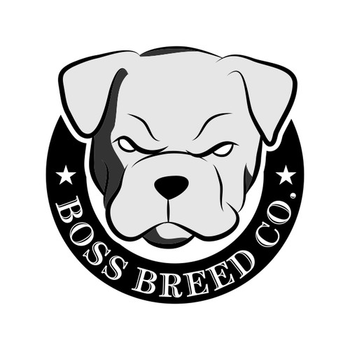 dog head logo for boss bread co.