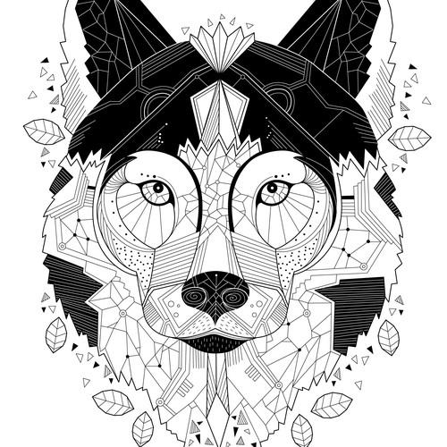 Wolf t-shirt design concept