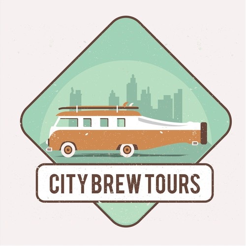 Retro Logo City Brew Tours