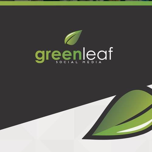 Green Leaf Social Media (logo)
