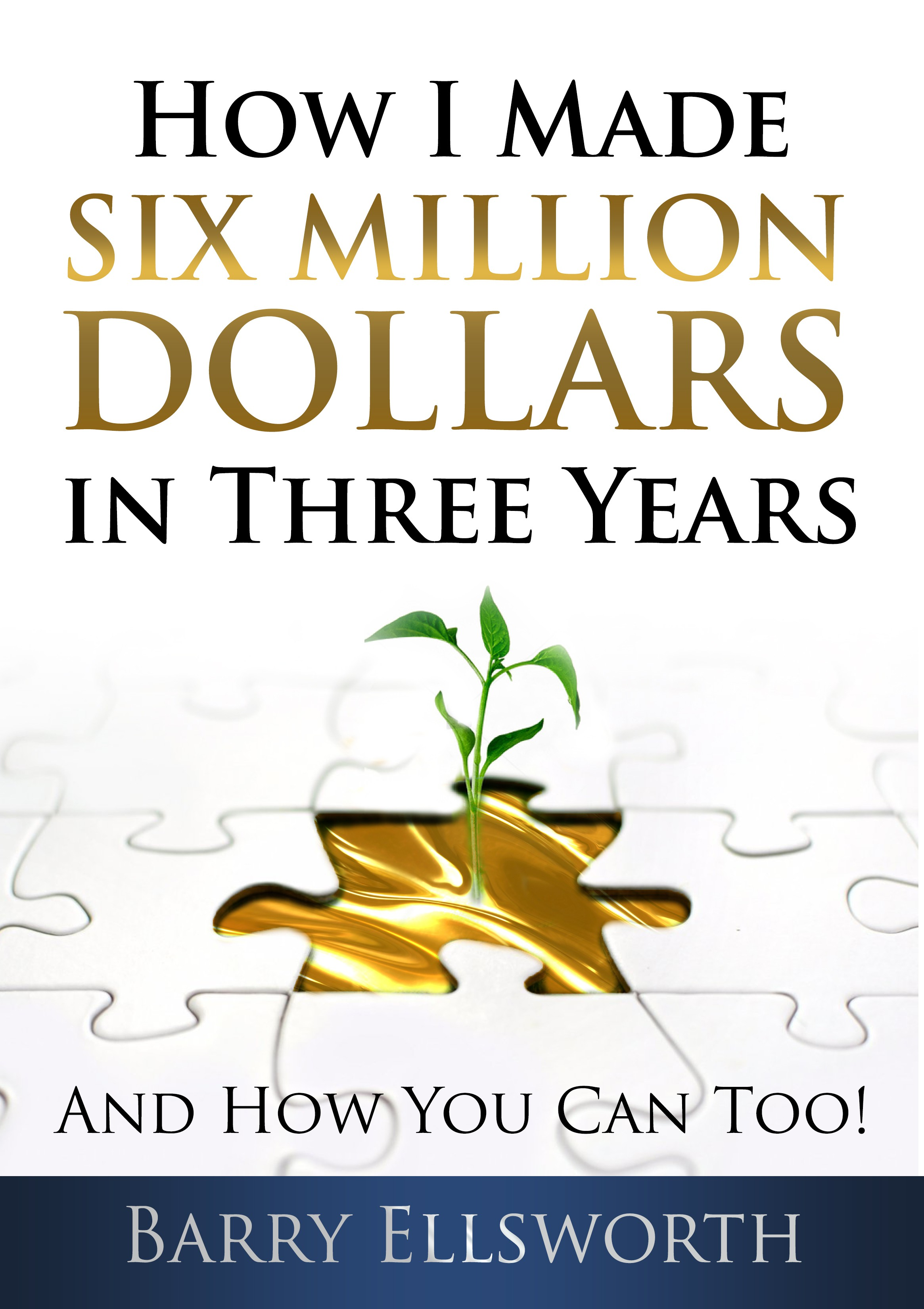 """New Book: """"How I Made Six Million Dollars in Three Years"""" Needs a Great Book Cover"""