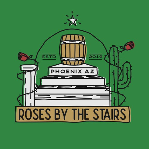 Roses by the stairs Brewery