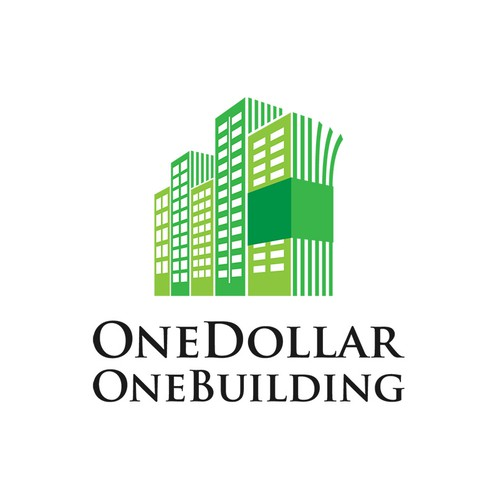 Create a logo for OneDollarOneBuilding