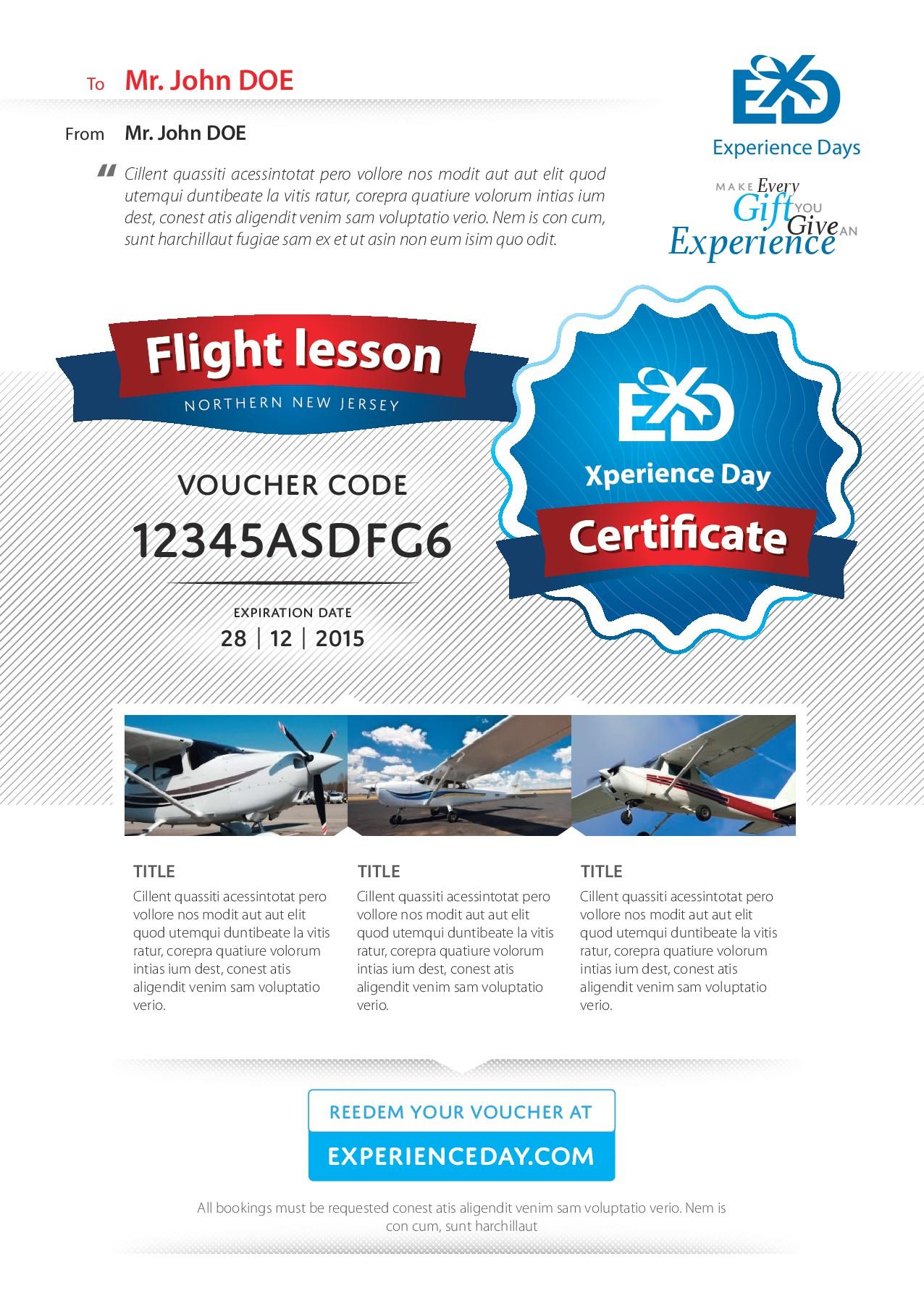 Adventure E-Certificate Redesign