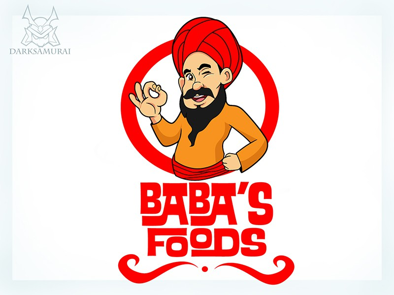 Create a fun character with a logo instantly recognisable for Baba,s
