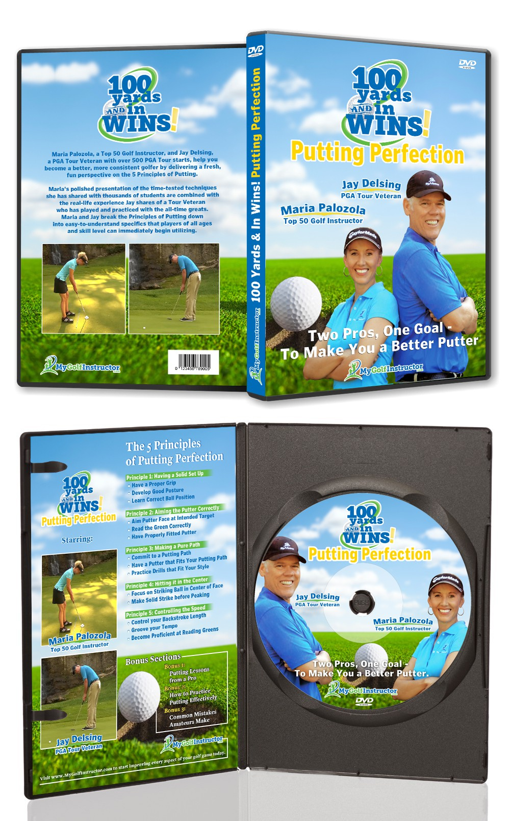 New product packaging wanted for MyGolfInstructor.com
