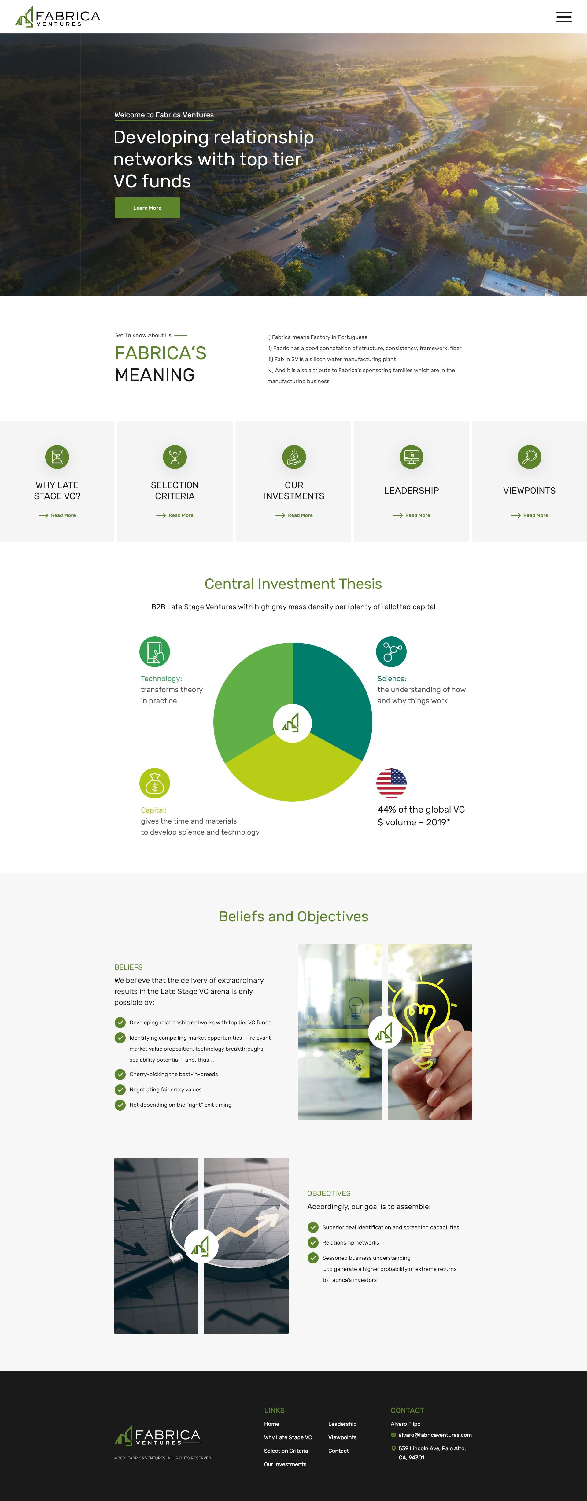 Fabrica Ventures website