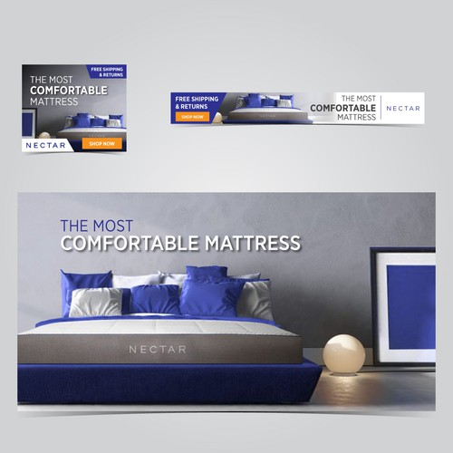 Mattress Springbed Banner Ads Design
