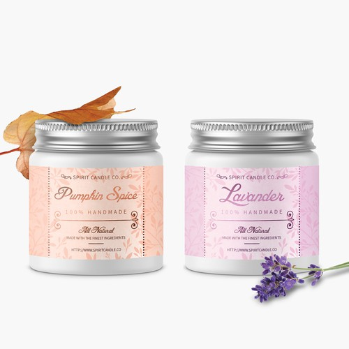 Luxurious and playfull candle label design