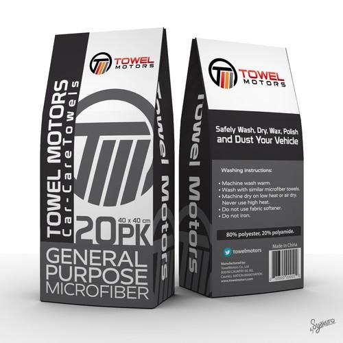 Towel Motors packaging design