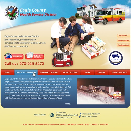 Website design for Eagle County Health Service