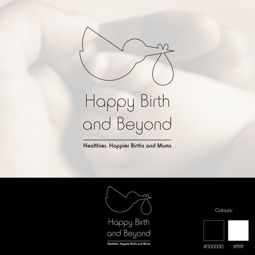 Elegant understated logo for baby business