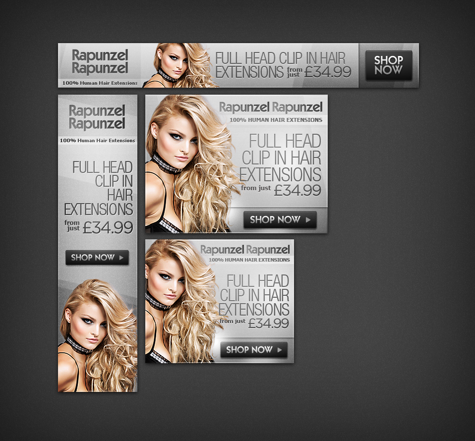 Hair Extensions Banner Ads